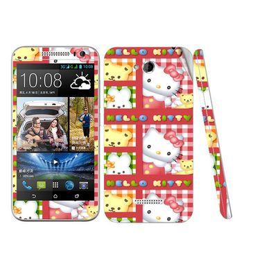 Snooky 38970 Digital Print Mobile Skin Sticker For HTC Desire 616 - Pink
