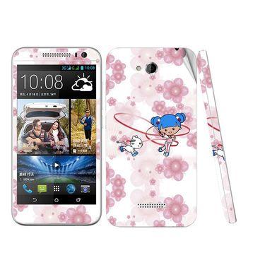 Snooky 38980 Digital Print Mobile Skin Sticker For HTC Desire 616 - White