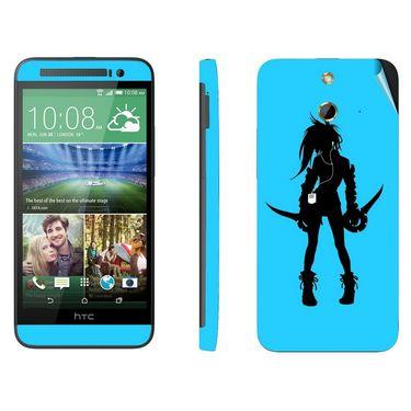 Snooky 38998 Digital Print Mobile Skin Sticker For HTC One E8 - Blue