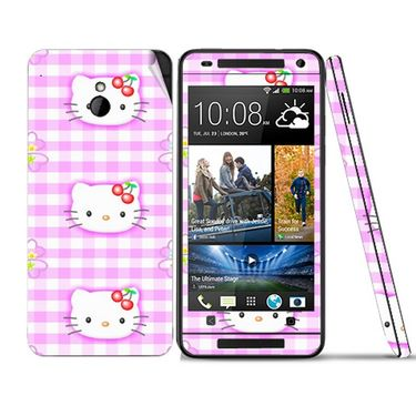 Snooky 39020 Digital Print Mobile Skin Sticker For HTC One mini - Pink