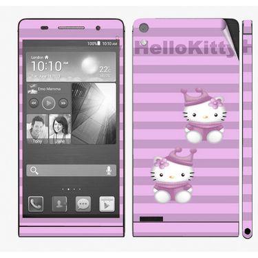 Snooky 39031 Digital Print Mobile Skin Sticker For Huawei Ascend P6 - Purple