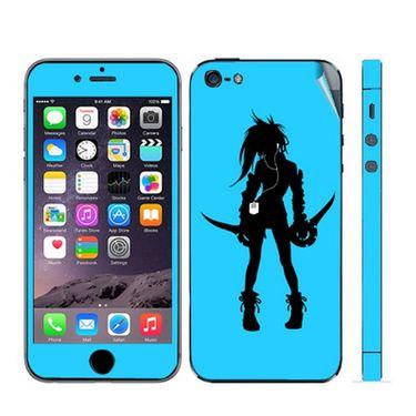 Snooky 39046 Digital Print Mobile Skin Sticker For Apple Iphone 5 - Blue