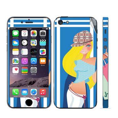 Snooky 39047 Digital Print Mobile Skin Sticker For Apple Iphone 5 - Blue