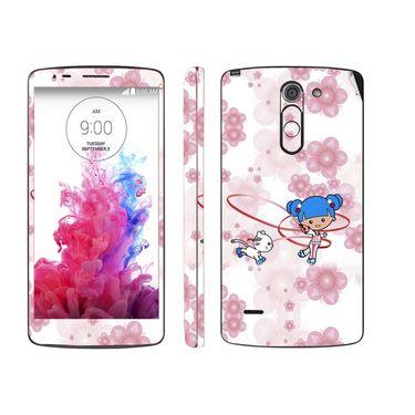 Snooky 39160 Digital Print Mobile Skin Sticker For LG G3 Stylus - White