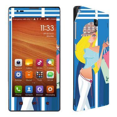 Snooky 39215 Digital Print Mobile Skin Sticker For Xiaomi Redmi 1s - Blue