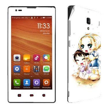 Snooky 39217 Digital Print Mobile Skin Sticker For Xiaomi Redmi 1s - White