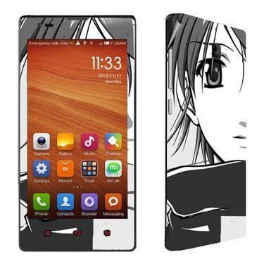 Snooky 39218 Digital Print Mobile Skin Sticker For Xiaomi Redmi 1s - Gray