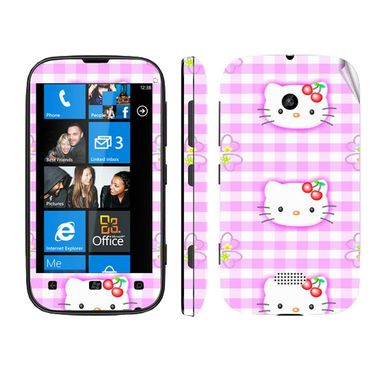 Snooky 39224 Digital Print Mobile Skin Sticker For Nokia Lumia 510 - Pink
