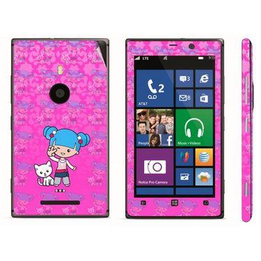 Snooky 39291 Digital Print Mobile Skin Sticker For Nokia Lumia 925 - Pink