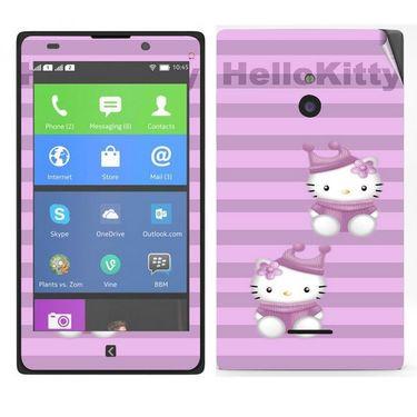 Snooky 39307 Digital Print Mobile Skin Sticker For Nokia XL - Purple