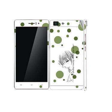 Snooky 39393 Digital Print Mobile Skin Sticker For OPPO R5 - White