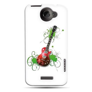 Snooky 37251 Digital Print Hard Back Case Cover For HTC ONE X S720E - White