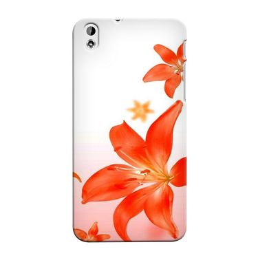 Snooky 37314 Digital Print Hard Back Case Cover For HTC Desire 816 - White