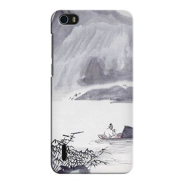 Snooky 37415 Digital Print Hard Back Case Cover For huawei honor 6 - Grey