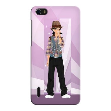 Snooky 37423 Digital Print Hard Back Case Cover For huawei honor 6 - Pink