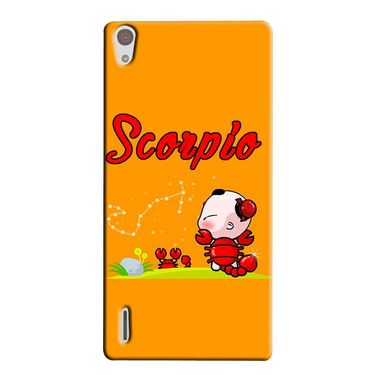 Snooky 38334 Digital Print Hard Back Case Cover For Huawei Ascend P7 - Yellow