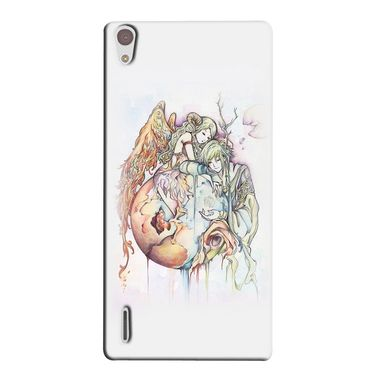 Snooky 38356 Digital Print Hard Back Case Cover For Huawei Ascend P7 - Multicolour