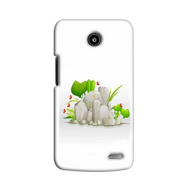 Snooky 38555 Digital Print Hard Back Case Cover For Lenovo A820 - White