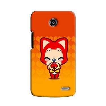 Snooky 38561 Digital Print Hard Back Case Cover For Lenovo A820 - Orange