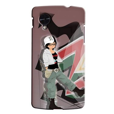 Snooky 35958 Digital Print Hard Back Case Cover For LG Google Nexus 5 - Brown