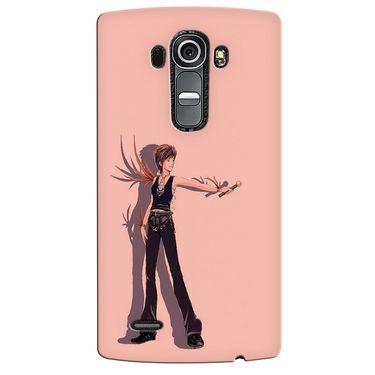 Snooky 37922 Digital Print Hard Back Case Cover For LG G4 - Mehroon