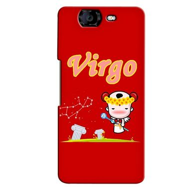 Snooky 35407 Digital Print Hard Back Case Cover For Micromax Canvas Knight A350 - Red