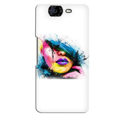 Snooky 35422 Digital Print Hard Back Case Cover For Micromax Canvas Knight A350 - White