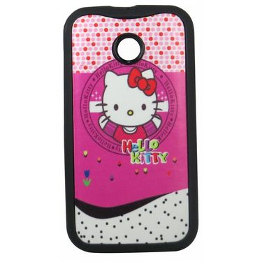 Snooky 35788 Designer Soft Back Case Cover For Motorola Moto E - Pink