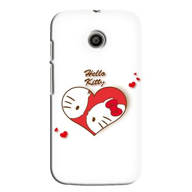 Snooky 35830 Digital Print Hard Back Case Cover For Motorola Moto E - White