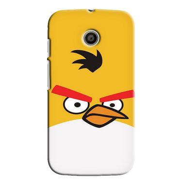 Snooky 35843 Digital Print Hard Back Case Cover For Motorola Moto E - Yellow