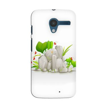 Snooky 35885 Digital Print Hard Back Case Cover For Motorola Moto X - White