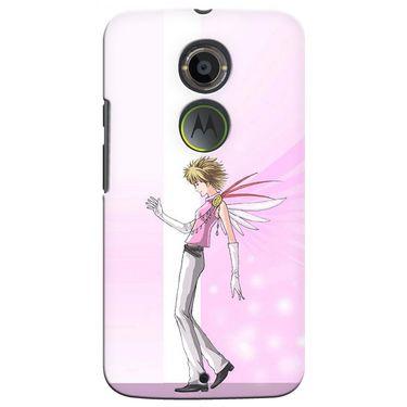 Snooky 35901 Digital Print Hard Back Case Cover For Motorola Moto X2 - Pink