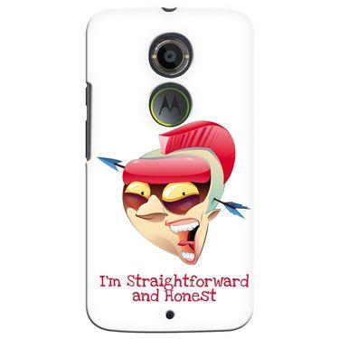 Snooky 35924 Digital Print Hard Back Case Cover For Motorola Moto X2 - White