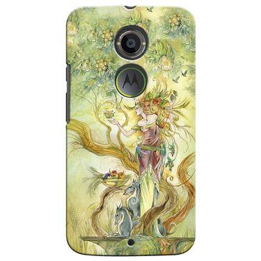 Snooky 35937 Digital Print Hard Back Case Cover For Motorola Moto X2 - Green