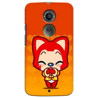 Snooky 35941 Digital Print Hard Back Case Cover For Motorola Moto X2 - Orange