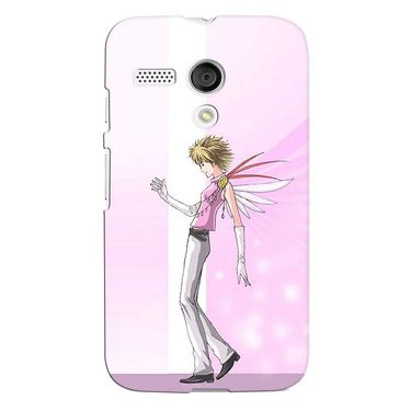 Snooky 38571 Digital Print Hard Back Case Cover For Motorola Moto G - Pink