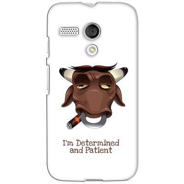 Snooky 38595 Digital Print Hard Back Case Cover For Motorola Moto G - White