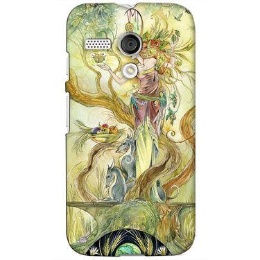 Snooky 38607 Digital Print Hard Back Case Cover For Motorola Moto G - Green