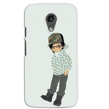 Snooky 38620 Digital Print Hard Back Case Cover For Motorola Moto G 2nd Gen - Green