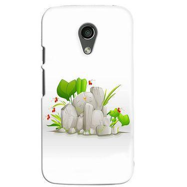 Snooky 38655 Digital Print Hard Back Case Cover For Motorola Moto G 2nd Gen - White