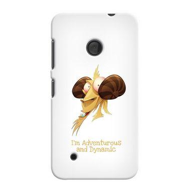 Snooky 37998 Digital Print Hard Back Case Cover For Nokia Lumia 530 - White