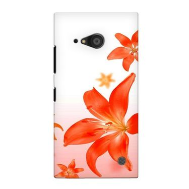 Snooky 38114 Digital Print Hard Back Case Cover For Nokia Lumia 735 - White