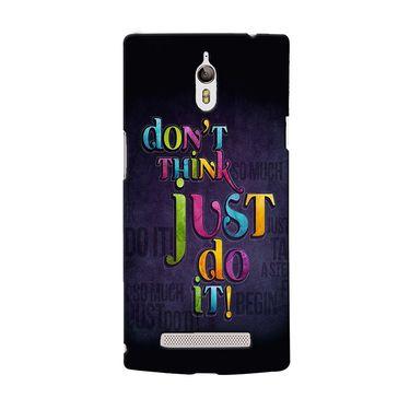 Snooky 36691 Digital Print Hard Back Case Cover For Oppo Find 7 - Black