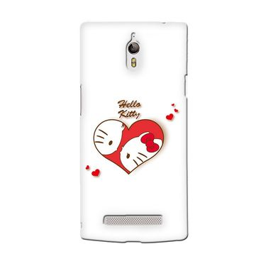Snooky 36700 Digital Print Hard Back Case Cover For Oppo Find 7 - White