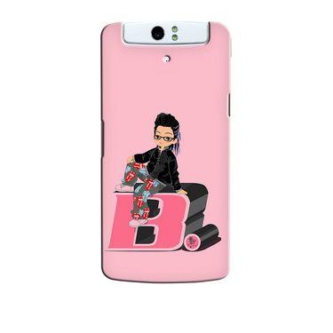Snooky 36726 Digital Print Hard Back Case Cover For Oppo N1 - Pink