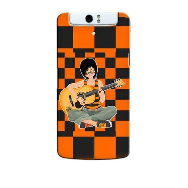 Snooky 36727 Digital Print Hard Back Case Cover For Oppo N1 - Black