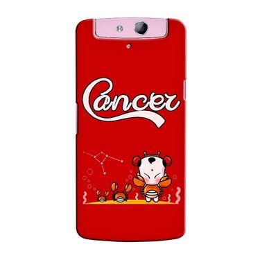 Snooky 36782 Digital Print Hard Back Case Cover For Oppo N1 Mini N5111 - Red