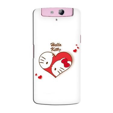 Snooky 36800 Digital Print Hard Back Case Cover For Oppo N1 Mini N5111 - White