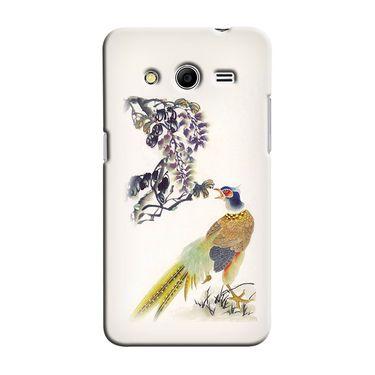Snooky 35435 Digital Print Hard Back Case Cover For Samsung Galaxy Core 2 - Cream