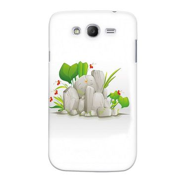 Snooky 35524 Digital Print Hard Back Case Cover For Samsung Galaxy Grand 2 - White